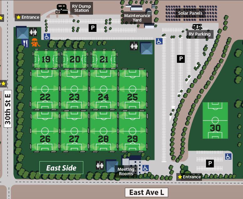 Parking Information | Lancaster National Soccer Center in